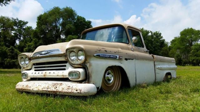 Engine Web besides Barn Finds Chevrolet Apache Crew Cab furthermore Front Web likewise  additionally Bagged Chevy Apache Pickup Air Ride Slammed Patina Hot Rat Rod. on 1959 chevrolet apache pickup truck
