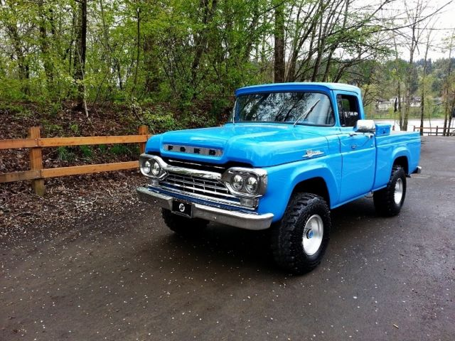 1959 Custom Short Bed Pick Up Truck Street Hot Rod Lifted ...1956 Ford F100 Lifted