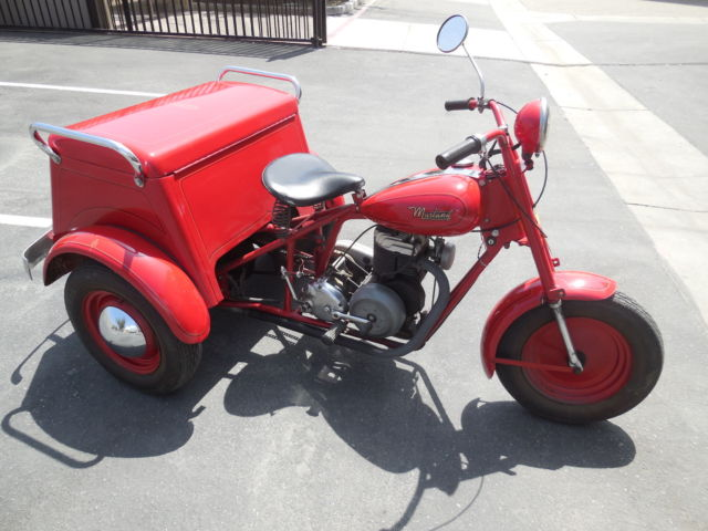mustang motorcycle deliverycyscle  wheel trike original runs great