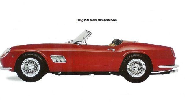 1960 Ferrari 250 Gt California Spyder Swb Aluminum Body Shell