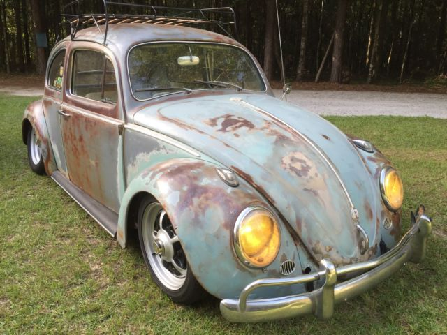 volkswagen vw bug beetle awesome patina  solid rat hot rod