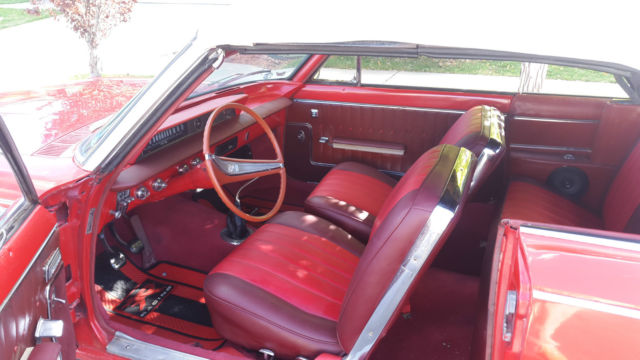 1963 Buick Skylark Convertible V8 4 speed Red with Red interior