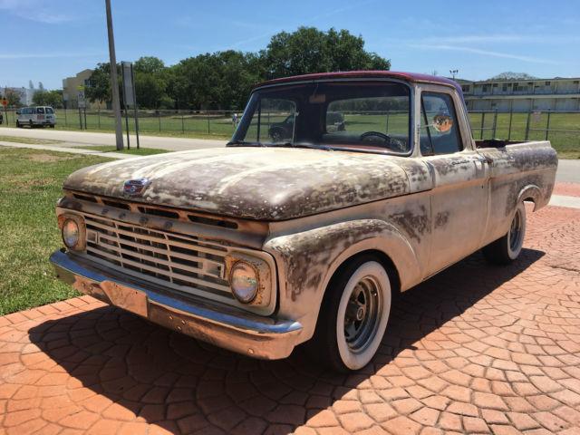 1963 Ford F 100 Unibody Patina Truck Rat Rod Custom
