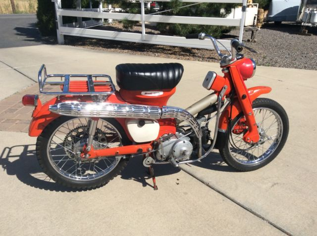honda ct early pushrod engine motorcycle rare  unusual trail