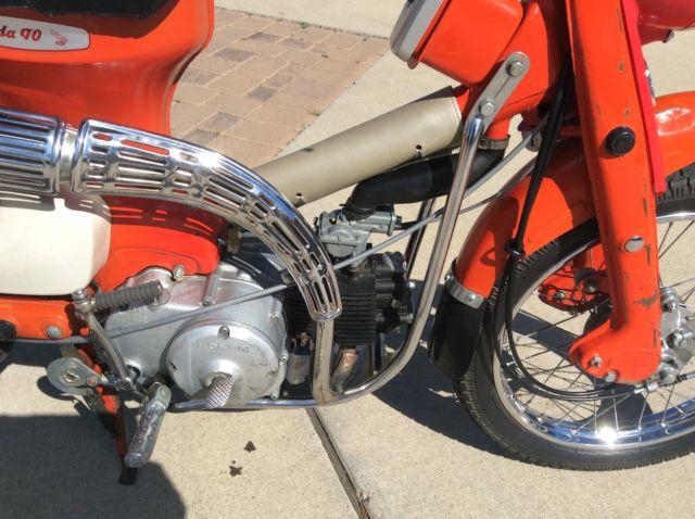Honda Ct Early Pushrod Engine Motorcycle Rare And Unusual Trail on Honda 90 Trail Bike