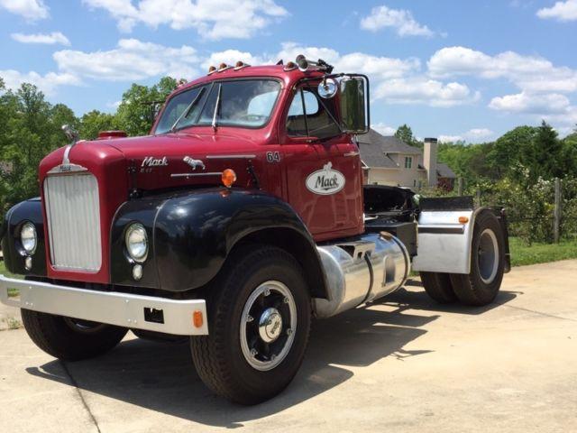 1964 Mack B Model : Mack b tractor