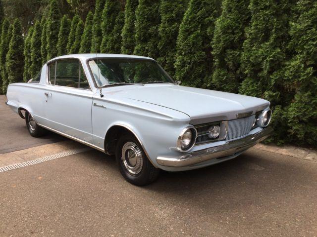 1964 Plymouth Barracuda 273 V8 Factory 4sp SURVIVOR NO RESERVE