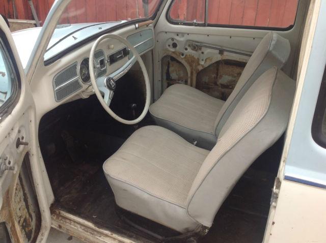 1965 65 VW VOLKSWAGEN BEETLE BUG RAGTOP RAG CREAM LIGHT ...