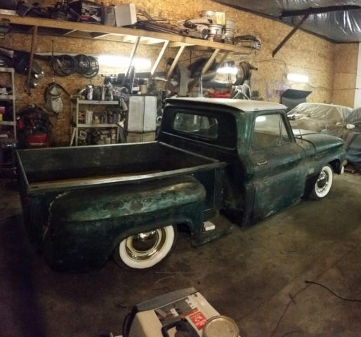 1966 Chevy C10 Stepside Rat Rod. Air Ride. Bagged