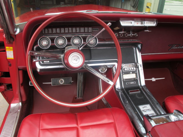 1966 Ford Thunderbird Convertible Candy Apple Red With Matching Red