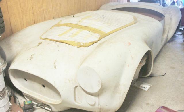 1966 Shelby Cobra Fiberglass Kit Car Replica Project Burgundy/silver