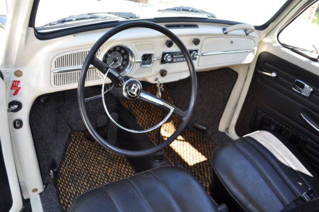 1967 volkswagen beetle white with black interior