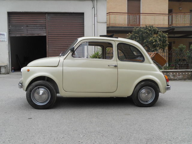 1968 fiat 500 vintage 110f beige restored now. Black Bedroom Furniture Sets. Home Design Ideas