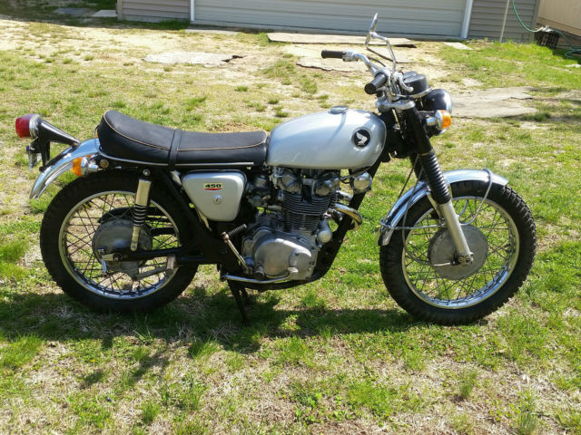 1968 honda cl450 scrambler cafe racer , rare bike , runs good