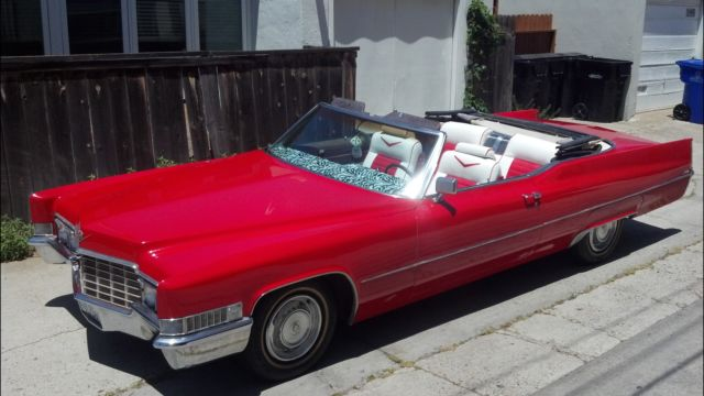 1969 Cadillac Coupe Deville Convertible Candy Le Red 7 7l