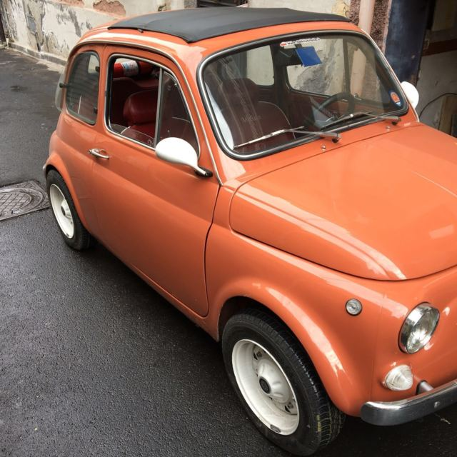 1969 fiat 500 110f luxury orange engine 650cc melina. Black Bedroom Furniture Sets. Home Design Ideas