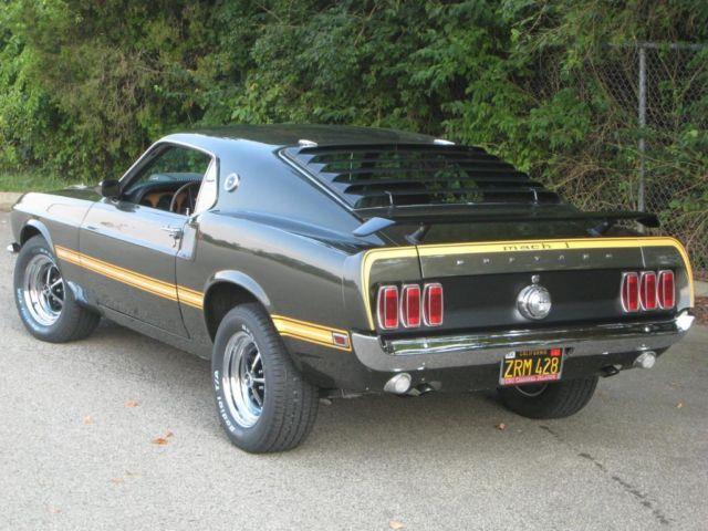 1969 ford mustang mach 1 r code 428 cobra jet. Black Bedroom Furniture Sets. Home Design Ideas