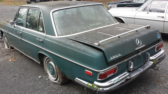 1969 mercedes 280s w108 sedan for parts or restoration a c