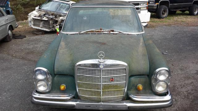 1969 Mercedes 280s W108 Sedan For Parts Or Restoration A C