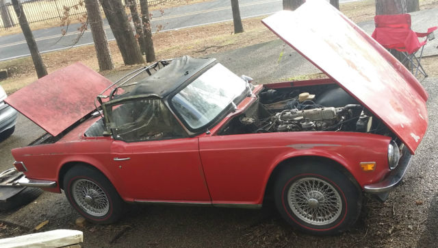 1969 Triumph Tr6 Project Car First Year Restoration Parts All