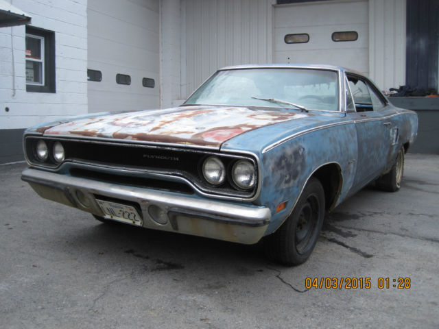 1970 Plymouth Satellite 318 Roadrunner Clone Donor Project Car