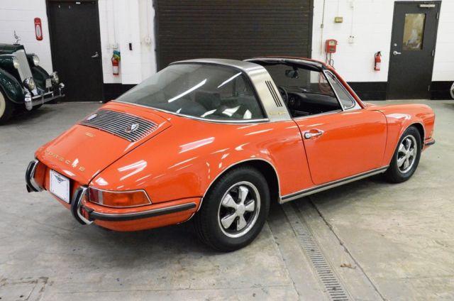 1970 porsche 911 t targa restored coa 2 2 liter tangerine for Orange city motors inc