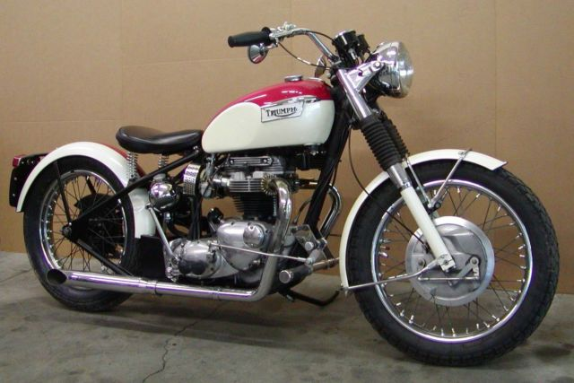 1970 Triumph 650 Bonneville Custom Bobber Chopper Hardtail Tiger