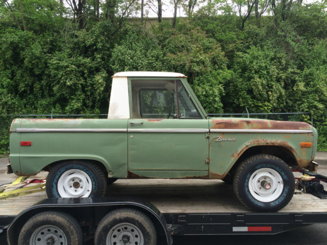 1971 Ford Bronco U14 Half Cab Uncut 1 Owner Until Last Year Bench Seat