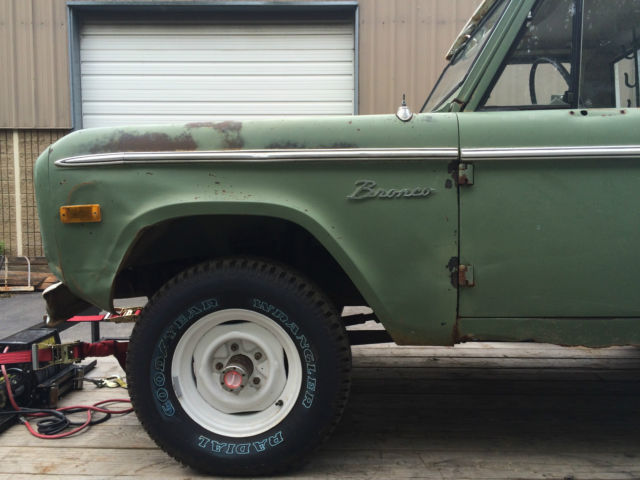 1971 Ford Bronco U14 half cab, uncut, 1 owner until last ...