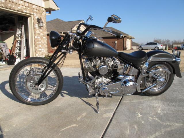 1971 Harley Davidson Shovelhead,Custom NEW Softail Frame 125 miles