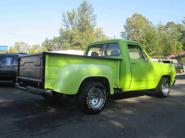 1972 Dodge Ram 100 1 2 Ton Short Box Step Side Truck 318 Auto Hemi