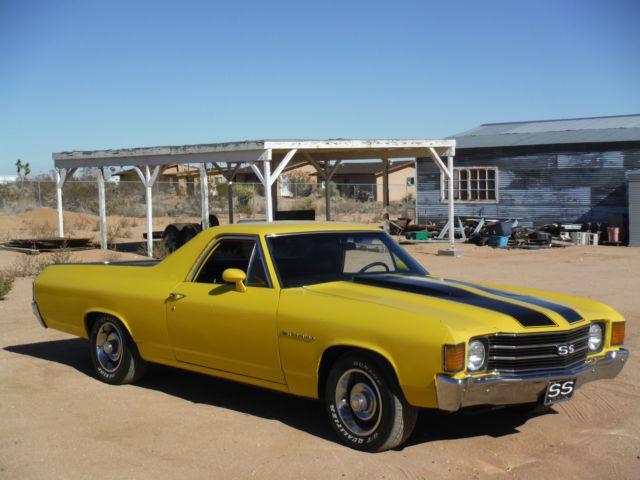 1972 EL CAMINO 350 # MATCH  CALIFORNIA CAR, HOTCHKIS