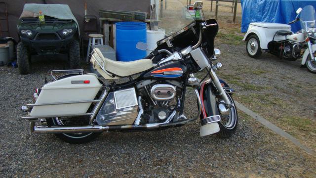 1972 Harley Davidson Amf Flh 1200cc W Full Chrome Trim