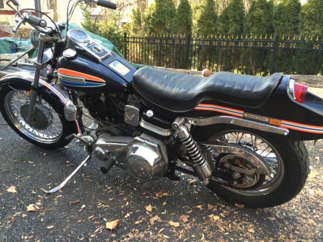 1972 Harley Davidson Fx Superglide Mid Night Express