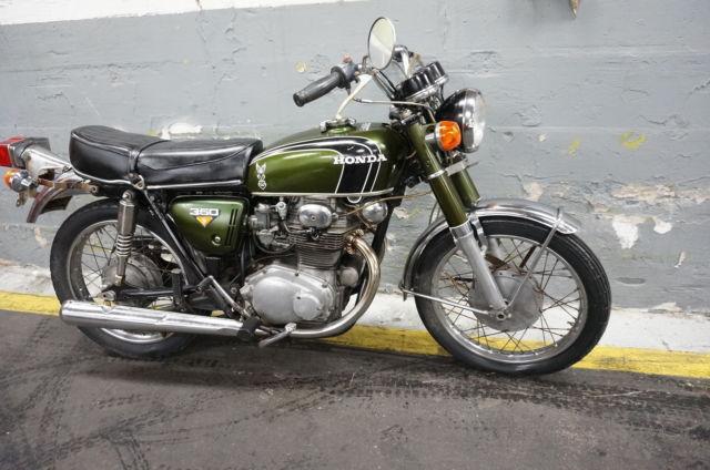 1972 honda cb350 cb 350 twin nice parts bike complete cb350t. Black Bedroom Furniture Sets. Home Design Ideas