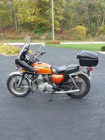 Honda Orange Park >> 1972 HONDA CB750 FLAKE SUNRISE ORANGE W/WINDJAMMER III ...