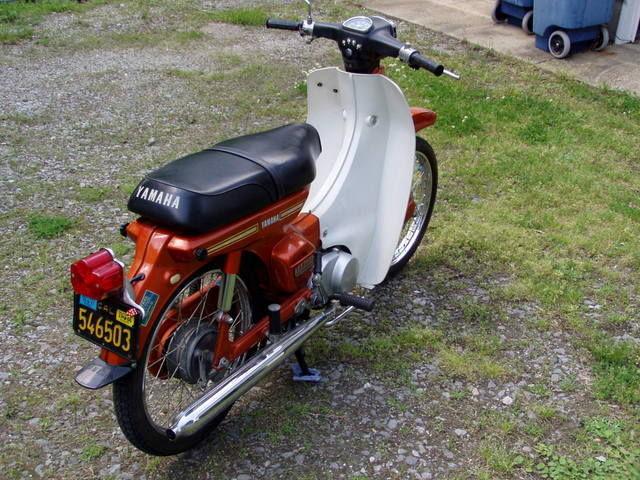 1972 yamaha u7e 75cc motorcycle scooter 636 original miles very nice w nos part. Black Bedroom Furniture Sets. Home Design Ideas