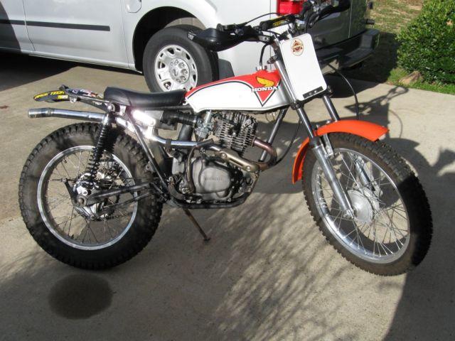 1973 HONDA TL125 CUSTOM 200 cc engine and TY 250 front end TRIAL BIKE