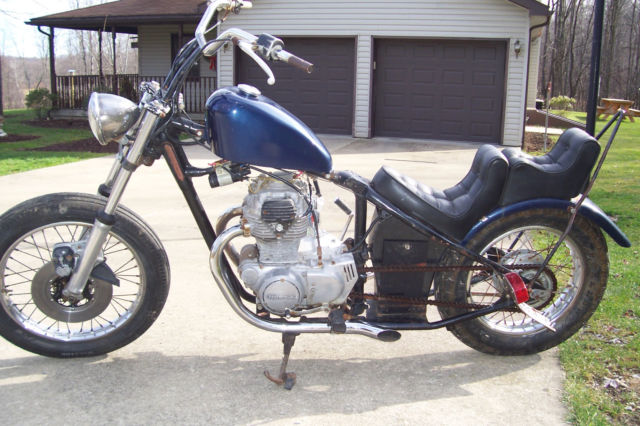 1974 Cool Old School Chopper Bobber Hardtail Project With CB 360 Honda Motor