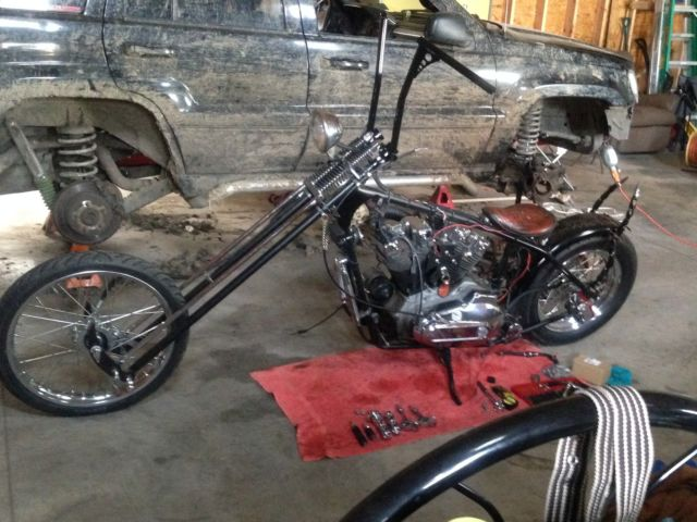 Harley Davidson Sportster Ironhead Chopper Bobber Custom Rigid Springer on 1974 Ironhead Sportster Parts