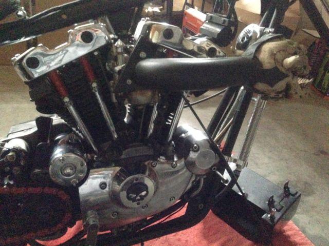 Harley Davidson Sportster Ironhead Chopper Bobber Custom Rigid Springer on 1974 Sportster Bobber