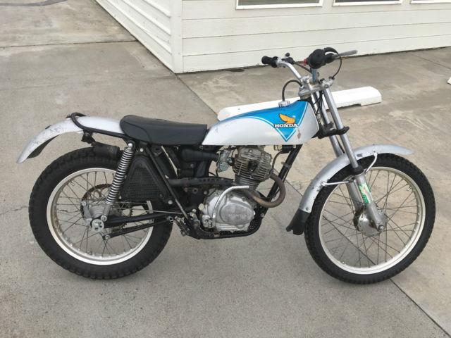 1974 Honda Tl125 In Silver Blue Very Rare Good Condition