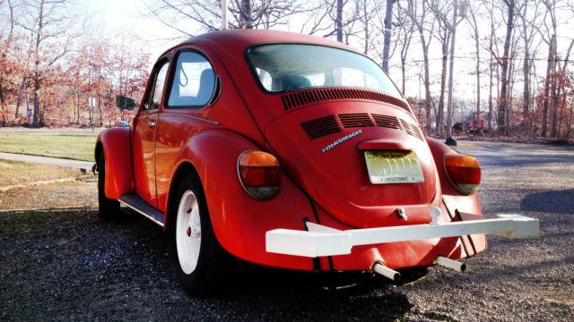 Volkswagon Super Beetle Red Vw Bug