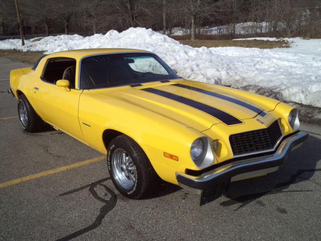 1975 CHEVROLET CAMARO BUILT 350 GORGEOUS YELLOW EXTERIOR ...