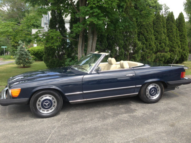1975 mercedes benz 450sl roadster dark blue over parchment for 1975 mercedes benz 450sl convertible