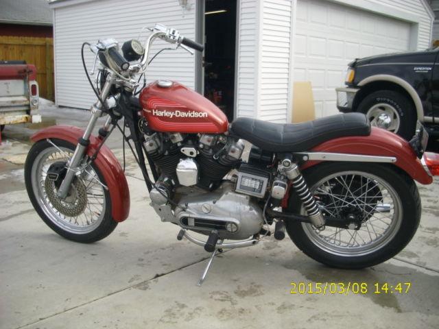 Harley Davidson Xlch Sportster Original Paint Rare Amf on 1974 Xlch Sportster