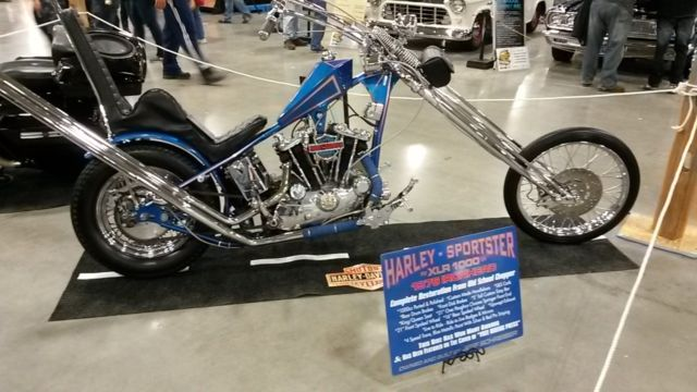 1976 Harley Sportster Chopper Ironhead 4speed Old
