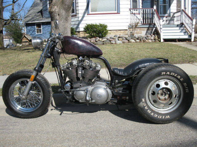 1976 Sportster Trike Ironhead Chopper Custom Harley