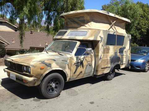 1977 Toyota Chinook Hilux Camper Pickup Popup Rv Runs Well