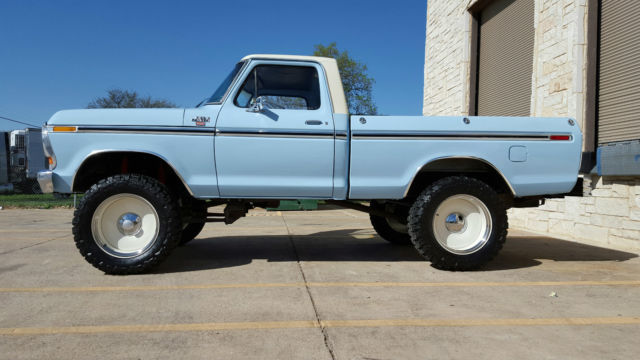 1978 Ford F150 4x4 Lifted 20 Rims 35 Tires Off Road Custom No